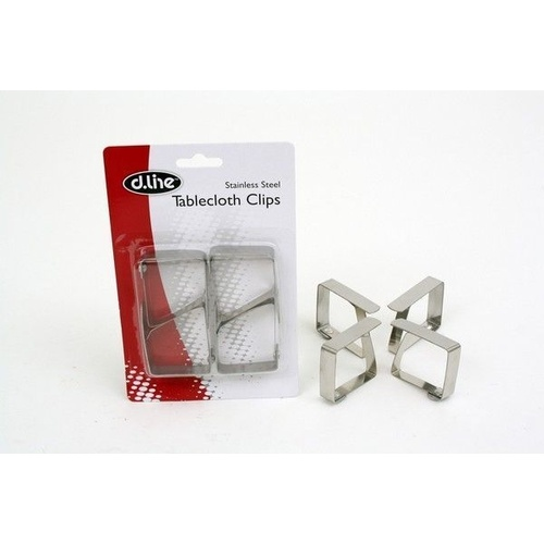 Stainless Steel Tablecloth Clips - Set of 4