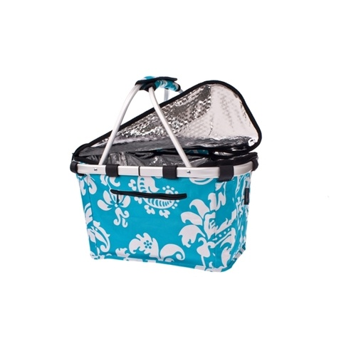 Shop & Go Insulated Collapsible Carry Basket with Lid - Phoenix Aqua