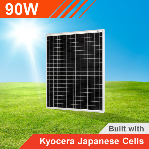 90W Fixed Solar Panel with Kyocera Japanese Cells