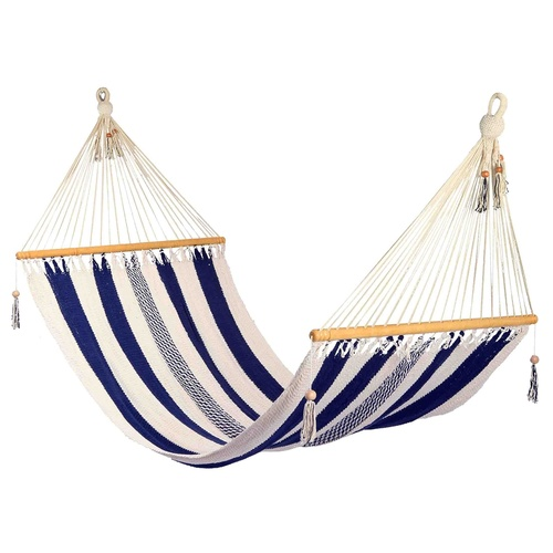 Striped Hammock Blue & White - Large