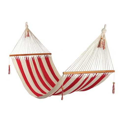 Striped Hammock Red & White - Large