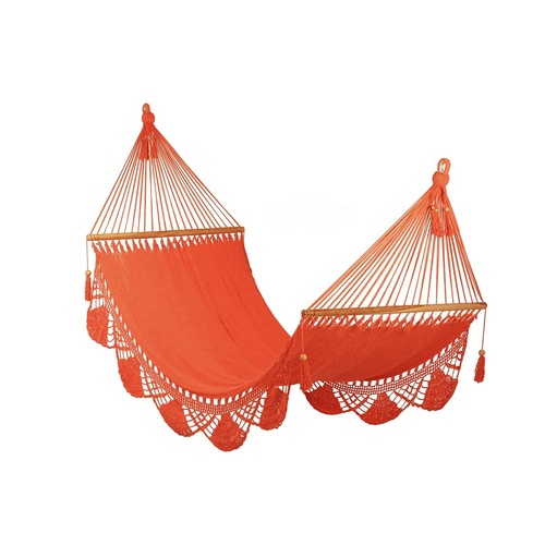 Hammock with Crochet (Orange) - Large size