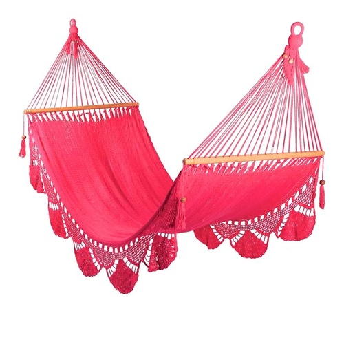 Hammock with Crochet (Pink) - Large Size