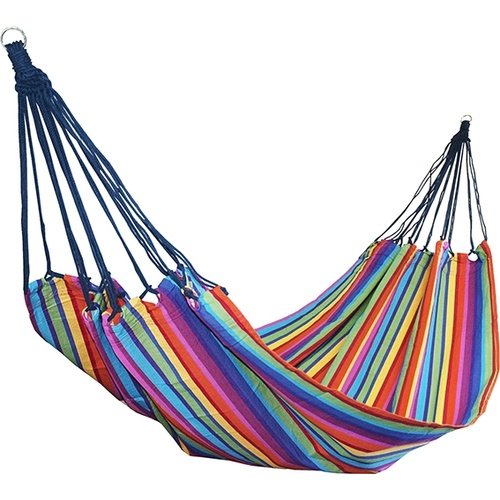 Designer Striped Cotton Hammock - Mixed Colours (Katie)