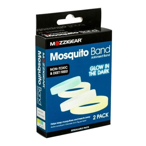 Mozzigear 2 Pack Glow In The Dark Mosquito Wrist Bands