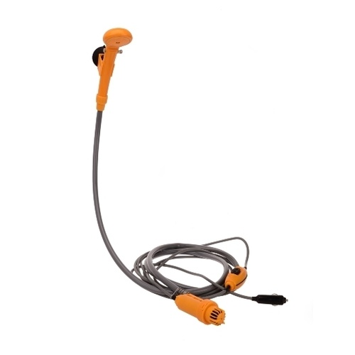 Oztrail 12V Hi Flow Portable Camp Shower with hose