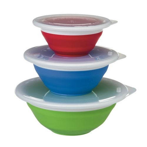 Progressive Prepworks Collapsible 3 Piece Storage Bowl Set