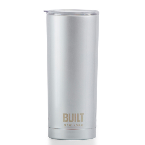 Built NY 20oz Double Walled Vacuum Insulated Tumbler (591ml) Silver