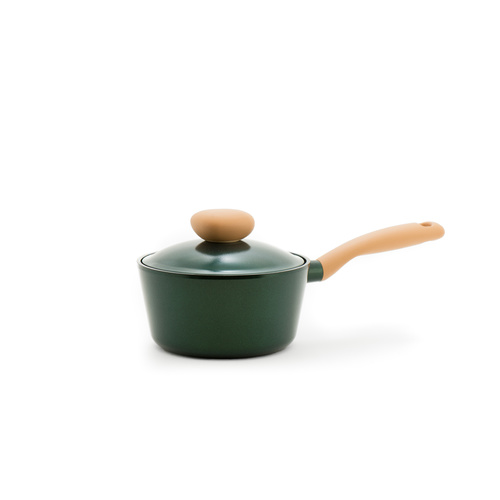 Neoflam Retro Jewel 18cm Sauce pan 1.8L Green Topaz Induction with Die-Casted Lid