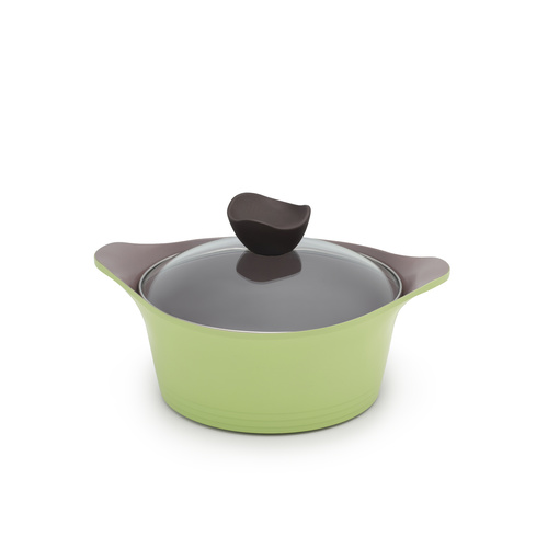Neoflam Nature+ Casserole Apple Green Induction with Glass Lid