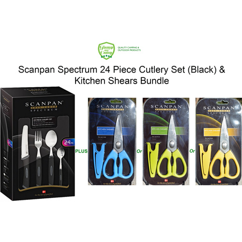 Scanpan Spectrum Cutlery Set 24 Piece & Kitchen Shears Bundle