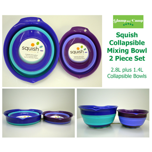Squish Collapsible Mixing Bowl 2 Piece Set